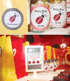"Favors: The ""Baby Buggies"" took home ""Baby Bug Grub,"" which was baby snacks and cereal put into baby food jars."