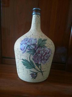 Botella craquelada