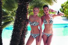 Bikini Bandeau y Bikini Triangular colección Black Roses