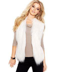 GUESS Draped Faux-Fur Vest