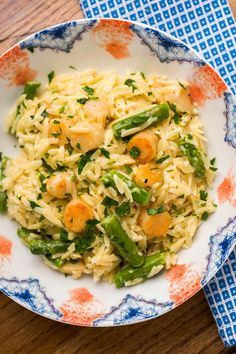 Creamy Orzo with Bay Scallops, Asparagus & Parmesan: Sugar & Spice by Celeste