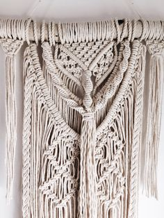 ready to ship macrame wall hanging tapestry macrame. Black Bedroom Furniture Sets. Home Design Ideas