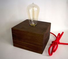 Wood Block Lamp : 14 Steps (with Pictures) - Instructables Tape Wall Art, Bois Diy, Shops, Standard Lamps, Wooden Lamp, Wooden Blocks, Mid Century Modern Design, Midcentury Modern, Creations