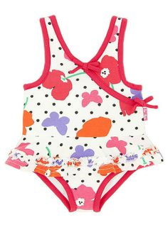 745499f0a85f7 Le Top Field of Poppies Skirted Swimsuit BABY Girls 12m-24m Baby Girl  Swimsuit,
