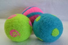 Felted Wool Ball Toys Sensory set of 3 Filled with by WoolyTopic, $18.00