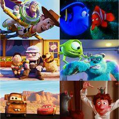 Disney Pixar movies :)