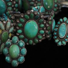 Southwest style turquoise jewelry by Greg Thorne.