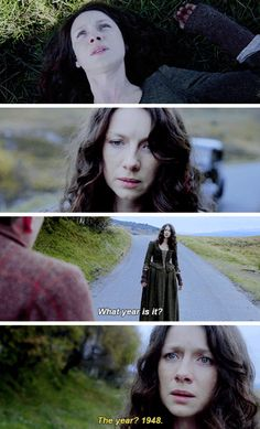 GIFSET - What year is it? // Claire // Outlander // Season 2 // alternate promo trailer. UPDATE: STARZ has asked that the alternate promo trailer be removed from social media. It is no longer on my board.