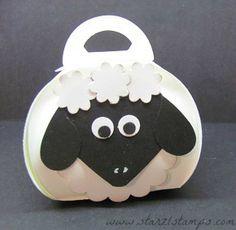 Curvy Keepsake Box Sheep Punch Art
