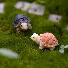 2 pcs tartaruga Bonito Resina Artesanato Mini Paisagem Artificial DIY decoração…