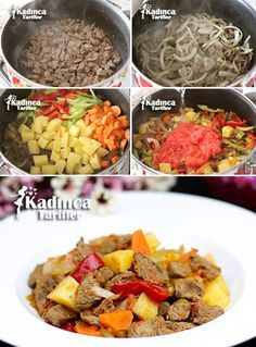 Vegetable casserole kebab recipe how? – Female recipes – Delicious, practical and delicious meal recipes, recipes # Vegetable casserole Kurdish Food, Turkish Recipes, Ethnic Recipes, Turkish Kitchen, Vegetable Casserole, Kebab Recipes, Kebabs, Pot Roast, Vegetable Recipes