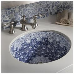 Kohler Hand-Painted Sinks | decorative and hand painted under mount sinks