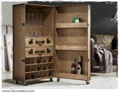 Resultado de imagen de mueble madera con ruedas