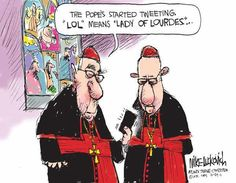 LOL=Lady of Lourdes Catholic humor Pope Francis Catholic Jokes, Catholic School, Religious Humor, Lady Of Lourdes, Our Lady, Christianity, Hilarious, It's Funny, Funny Stuff