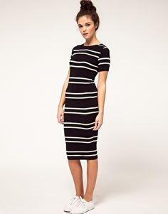River Island Stripe Midi Dress - StyleSays
