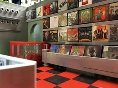 Incredible LEGO record store by artist Coop