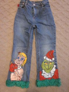 Don't toss those old jeans, re-purpose them for each holiday. kevinakers.com