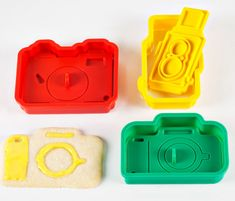 Cookie Cutters Cameras. these would be great for when my sister graduates college.