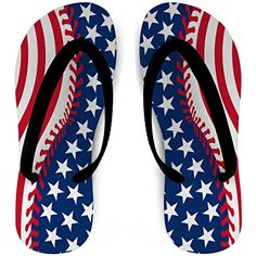 a14c6add59b9e7 Softball Flip Flops Stitched American Flag  gt  gt  gt  See this great  product. Sport SandalsOutdoor WomanAmerican ...