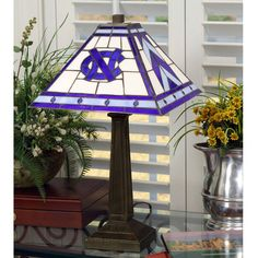 "North Carolina Tar Heels 23"" Mission Tiffany Table Lamp - $169.99"
