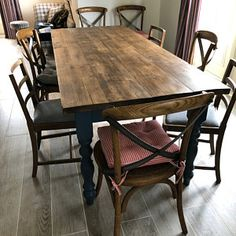 Extra Wide Rustic Reclaimed Farmhouse Dining Table Rustic | Etsy Reclaimed Dining Table, Rustic Kitchen Tables, Rustic Farmhouse Table, Farmhouse Dining Chairs, Dining Room, Farm Tables, Farmhouse Style, Plank Table, A Table