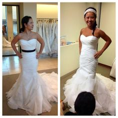 Bar Star Bachmai used The Bar Method to get wedding dress ready!  Here are her before and after photos!