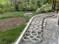 Pavement Concrete Mold Garden Walk Path Maker