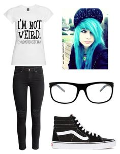"""""""Untitled #850"""" by lfromdeathnote ❤ liked on Polyvore featuring Vans, H&M and GlassesUSA"""