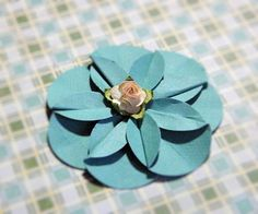 Step by step instructions to make a Delilah Flower I know everyone love the Delilah flower made from folded circles . Butterfly Flowers, Diy Flowers, Butterflies, Scrapbook Paper Crafts, Scrapbooking Ideas, Paper Crafting, Dyi Crafts, Sewing Crafts, Paper Flowers Craft