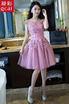 Real Picture,Short Prom Dress,Prom Dresses,Bridesmaid Dresses,Tulle Appliques,Evening…