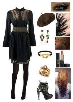 """""""Look At You Girl"""" by brelea-1 ❤ liked on Polyvore featuring Hue, HADES, Alcozer & J, Lucky Brand, Betmar, L'Oréal Paris, Fornash and Occhi Verdi"""