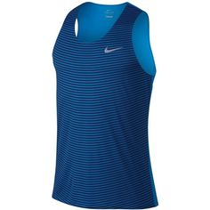 Nike Men's Dry Running Tank Top (54 CAD) ❤ liked on Polyvore featuring men's fashion, men's clothing, men's shirts, men's tank tops, light blue, mens light blue shirt, nike mens tank tops, mens tank tops and nike mens shirts
