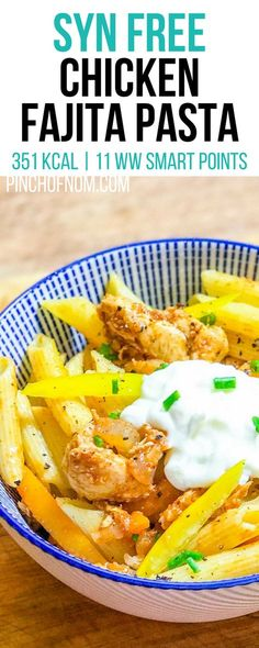 Syn Free Chicken Fajita Pasta| Pinch Of Nom Slimming World Recipes  351 kcal | Syn Free | 11 Weight Watchers Smart Points