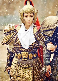 Fan Bingbing in 'The Empress of China' Nina Agdal, The Empress Of China, Chinese Armor, Warrior Outfit, Asian Photography, Oriental Dress, Female Armor, Fan Bingbing, Chinese Clothing