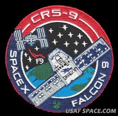 CRS-11 SPACEX ORIGINAL FALCON-9 DRAGON F-9 ISS NASA RESUPPLY Mission PATCH