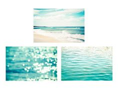 nautical decor coastal print set ocean by mylittlepixels on Etsy