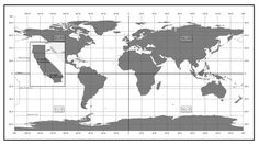 World Coordinate Map by Curtis Page, via Behance