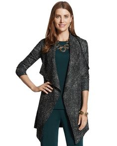 Chico's Crushed Duster Jacket #chicos