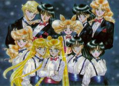 by Naoko Takeuchi - Sailor Moon Manga Art Books Image Collection. Always a favorite.