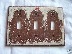 Christmas painted light switch cover