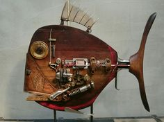 Recycled Art Projects, Cool Art Projects, Fish Wall Art, Fish Art, Metal Fish, Fish Sculpture, Found Object Art, Scrap Metal Art, Junk Art