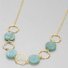 Quality goldfilled necklaces handmade with jade aquamarine.