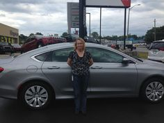 Cheryl is excited about the purchase of her new 2016 Chrysler 200. Thanks again for your business and enjoy your ride. #happyclient #chrysler #kingstondodge