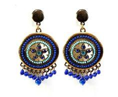 maxi brincos indian azul www.sinhazinha.com  #brincos #bijuteria #acessórios