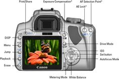 finding the focus and ports on the front and side of the canon xti rh pinterest com Cannon D400 Nikon D400 Release Date