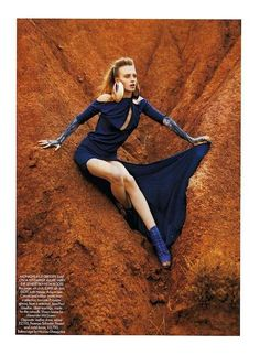 Desert Floor Fashion: Harper's Bazaar Britain March 2010 Puts Dresses in the Sand