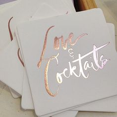 love & cocktail coasters
