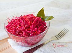 Řepa se zelím a křenem recept | Vaření.cz Kimchi, Cabbage, Preserves, Raspberry, Vegetables, Canning, Fruit, Ethnic Recipes, Food