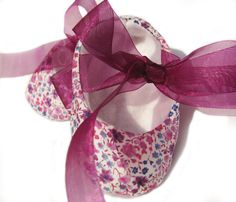 """Stylish """"Cherry blossom"""" baby shoes, unique baby gift"""