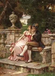 In the past couple weeks I've encountered several paintings that depict scenes of Regency life. This is purely a Regency eye candy post....